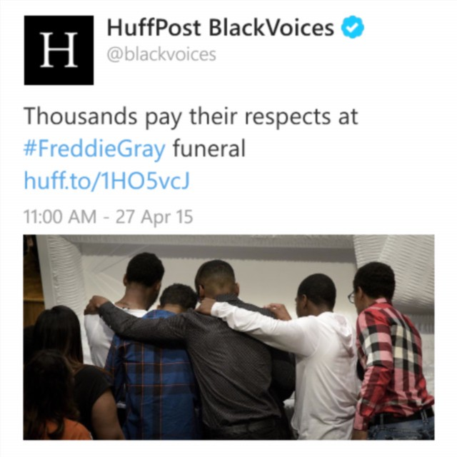 huffingtonpost Repost Thousands pay their respect at FreddieGray funeral BlackLivesMatter